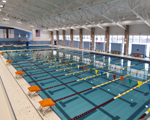 image of a natatorium pool with acoustical treatment